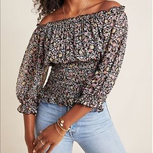Anthropologie Off-Shoulder Blouse